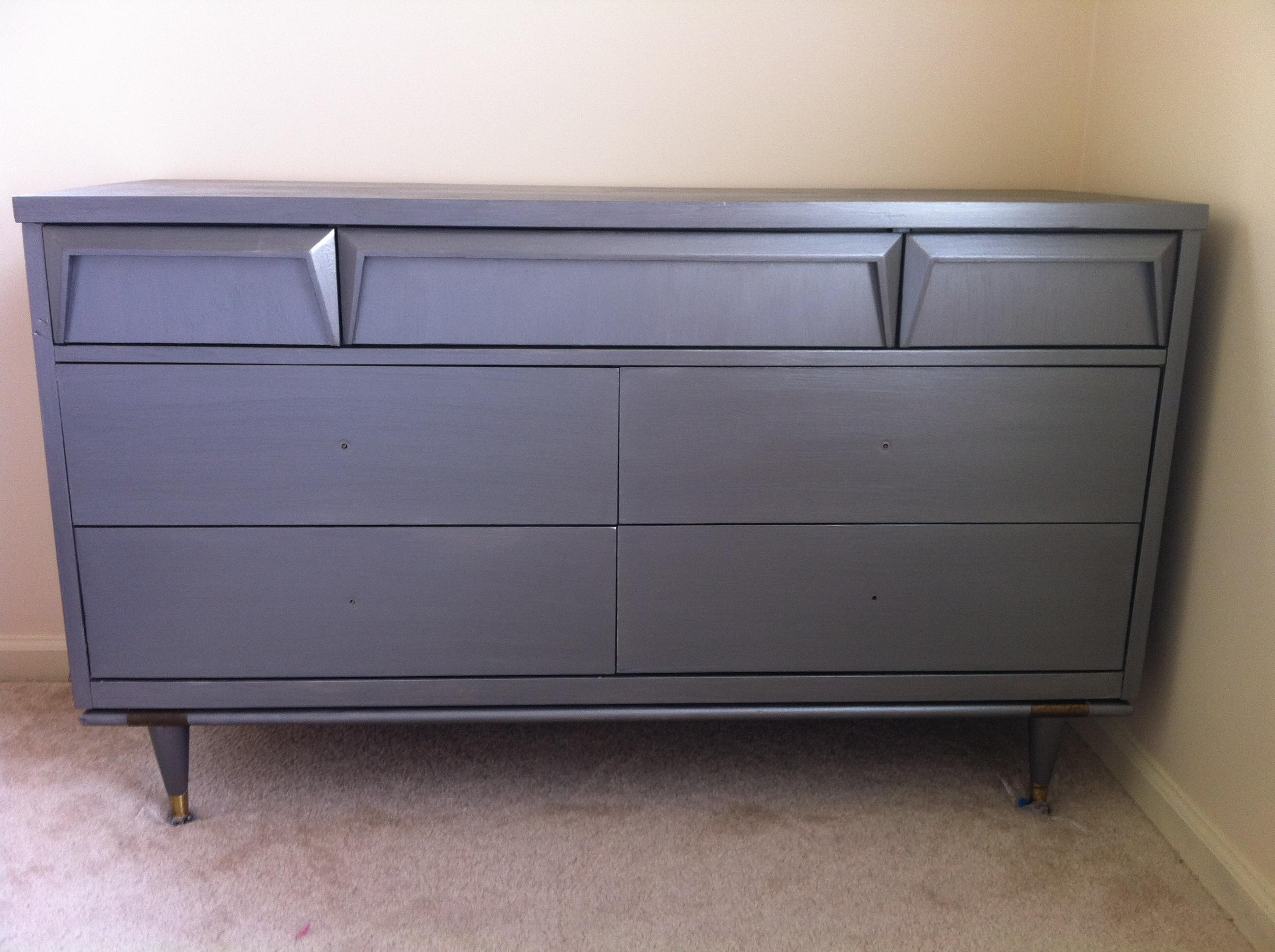 Gunmetal Gray Mid Century Modern Dresser Diy Midcentury Paint