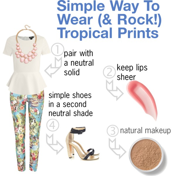 How To Wear Tropical Prints