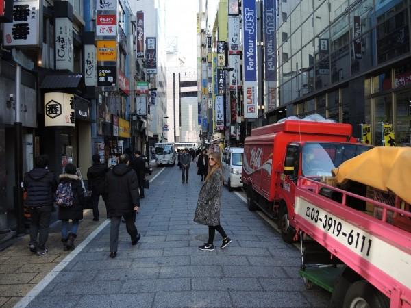 girl in tokyo street