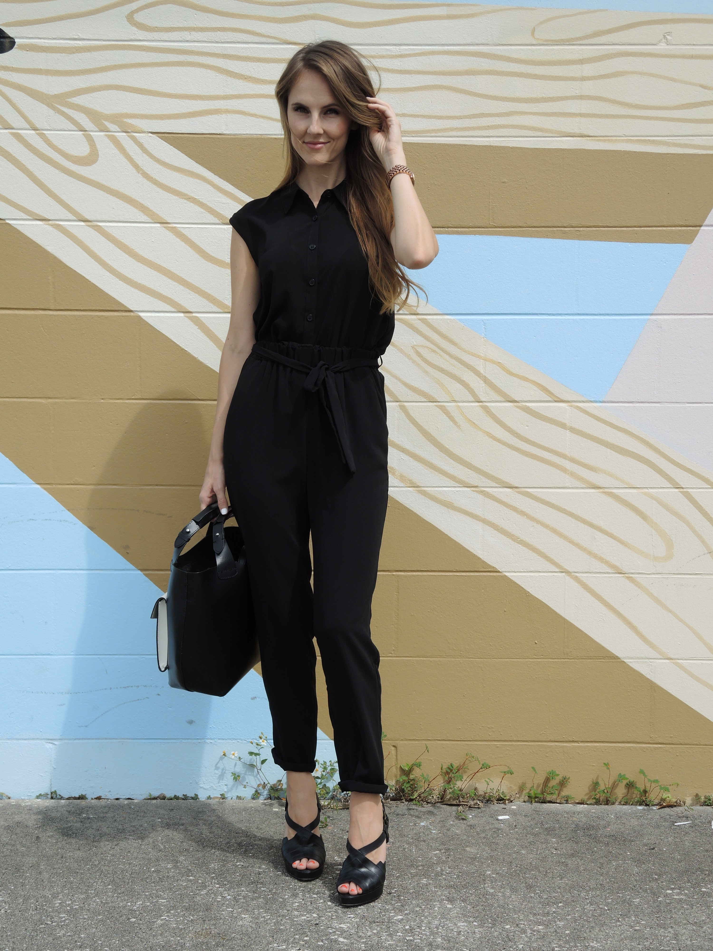 City Girl Black Jumpsuit Louboutin Heels 187 Shikshin
