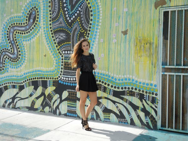 vintage beaded blouse black wynwood,vintage beaded top, vintage beaded blouse, aquazzura lace up heels, aquazzura suede heels, justfab heels, wynwood street style, miami street style, miami fashion blogger, miami style blogger, street art wynwood