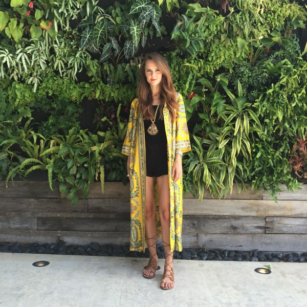 vintage yellow kimono miami